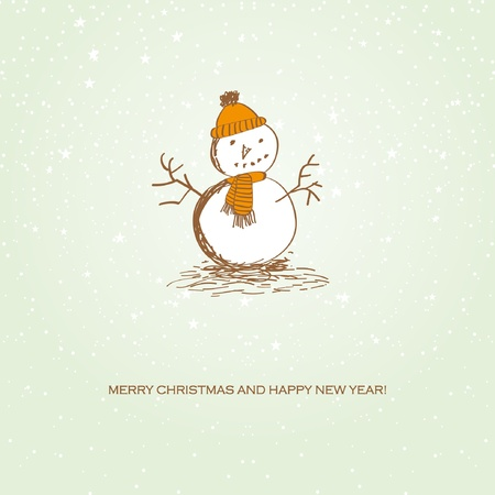 Happy Christmas snowman Stock Vector - 11145421