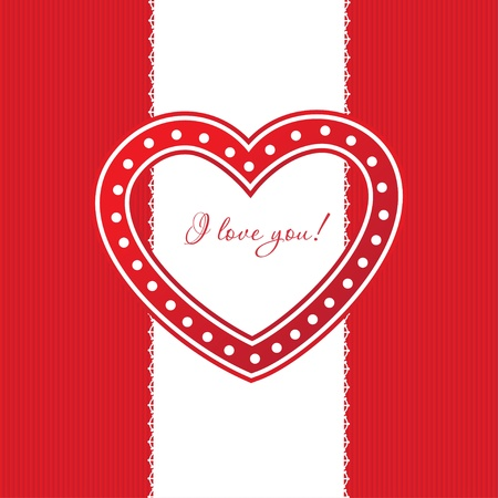 Cute vector background with vintage hearts Stock Photo - 12747593