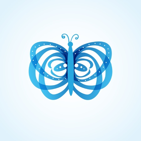 Beautiful abstract blue butterfly Vector