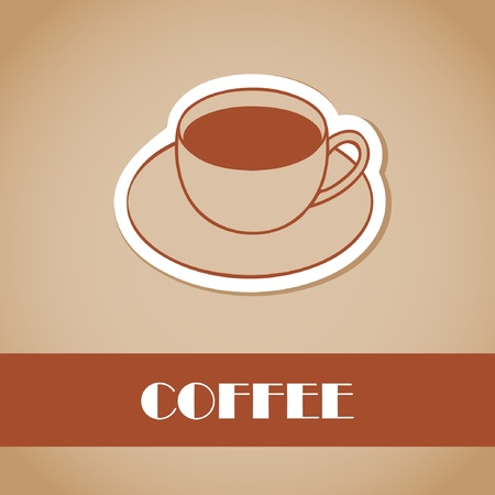 Cup of coffee  Vector illustration for bar or cafe