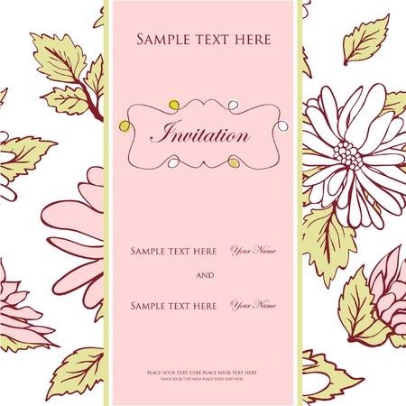 結婚式の招待状の概念  イラスト・ベクター素材