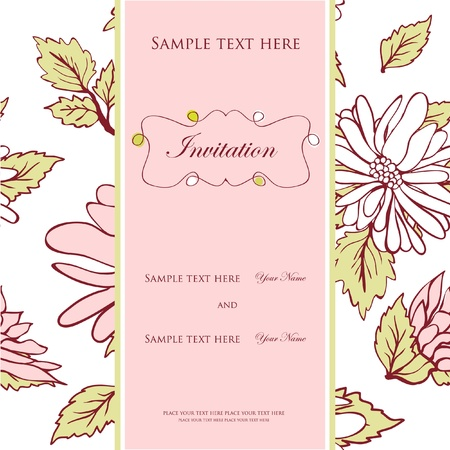 wedding reception decoration: Wedding invitation concept