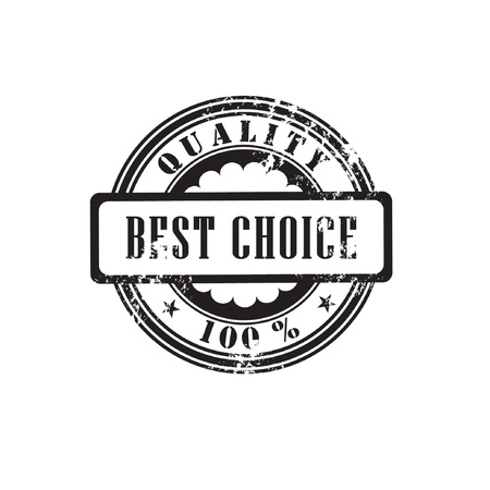 Rubber stamp  best choice  in vector format  Vector