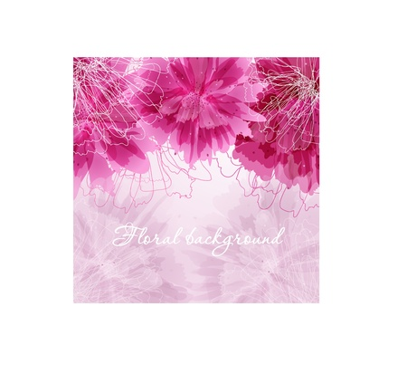 Abstract floral card photo