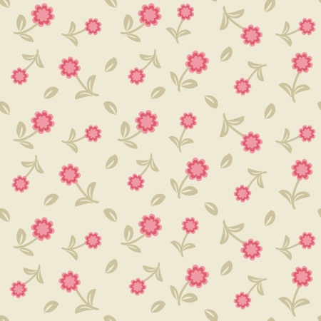 Seamless pattern with pastel flowers  photo
