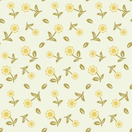 flores color pastel: Patr�n sin fisuras con flores en colores pastel