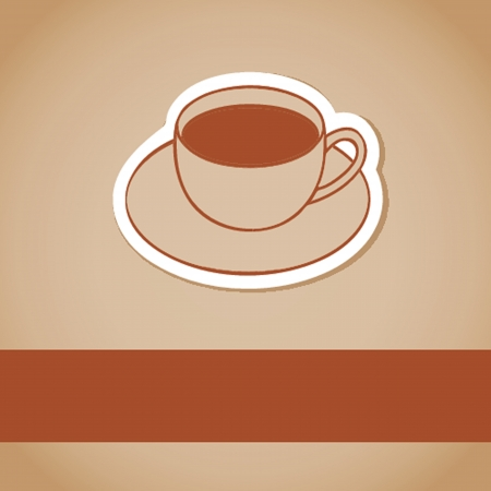 Cup of coffee  Vector illustration for bar or cafe Imagens