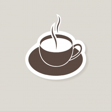 Cup of coffee  Vector illustration for bar or cafe Vector