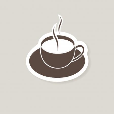 Cup of coffee  Vector illustration for bar or cafe Ilustração