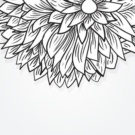 牡丹の花  イラスト・ベクター素材