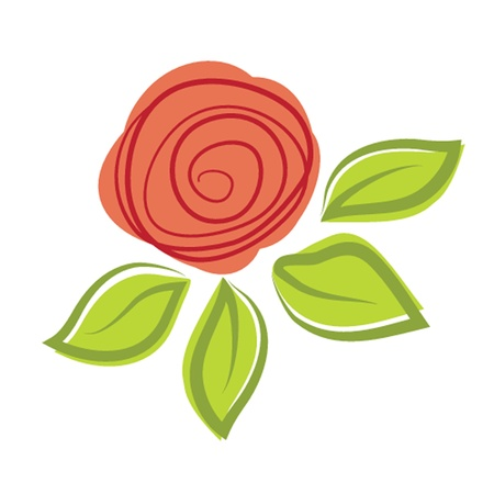 Abstract rose flower  illustration Vector