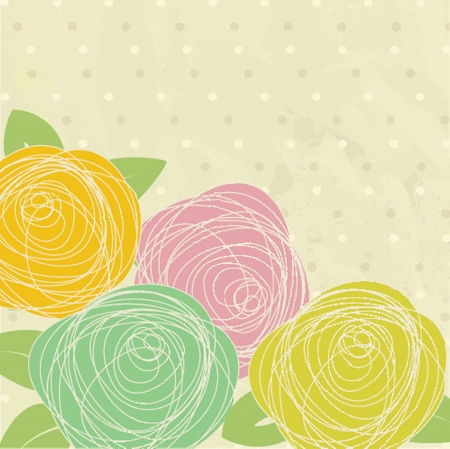 Abstract rose flower  Vector illustration Vector