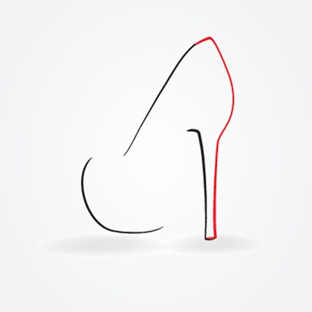illustration of pump shoe silhouette Illustration