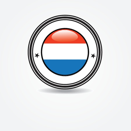 Netherlands flag in rubber stamp Vector