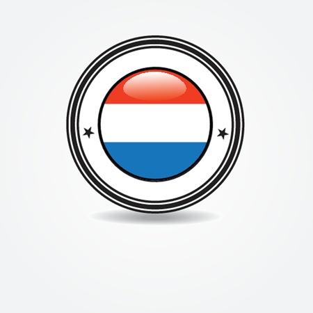 enclosure: Netherlands flag in rubber stamp