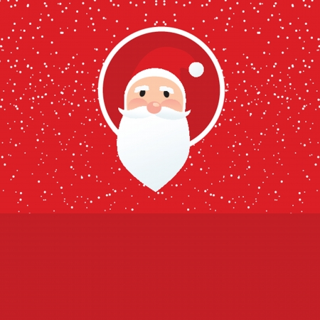 Christmas card with Santa Klaus face Stock Vector - 19093514