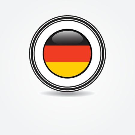 enclosure: Label Germany flag in rubber stamp