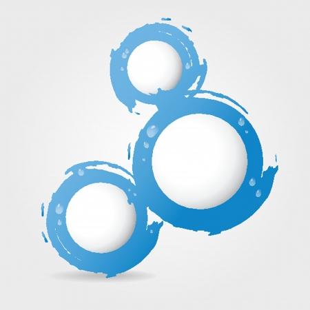 スタイリッシュなデジタル水の設計、水の滴  イラスト・ベクター素材