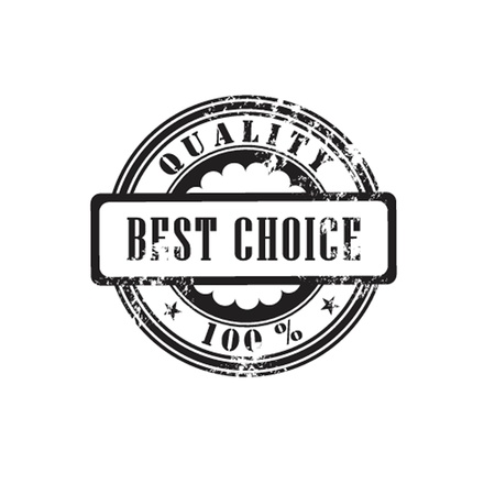 Rubber stamp  best choice  in vector  Vector