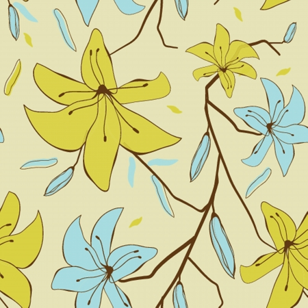 Floral seamless pattern Stock Vector - 19160217