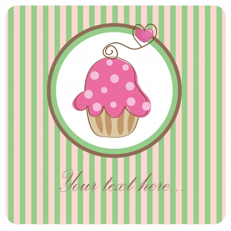 Piece of cake, cupcake illustration illustration