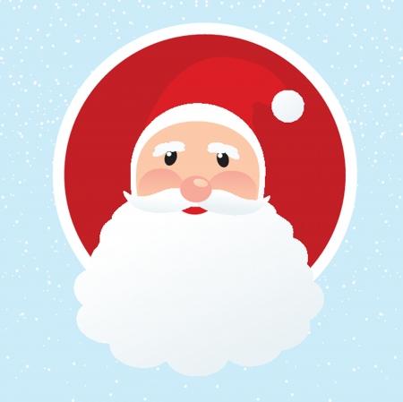 klaus: Christmas card with Santa Klaus face