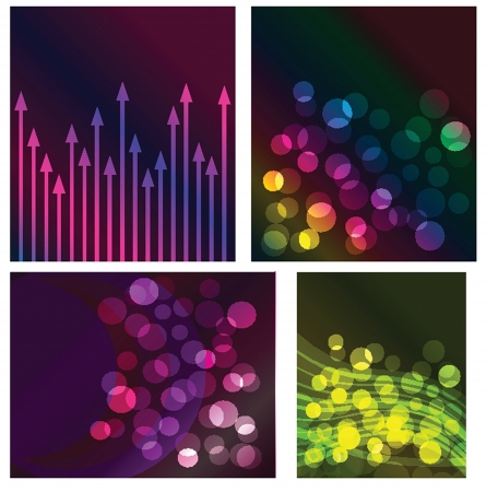 Neon lights  graphic design abstract background Stock Vector - 19290354