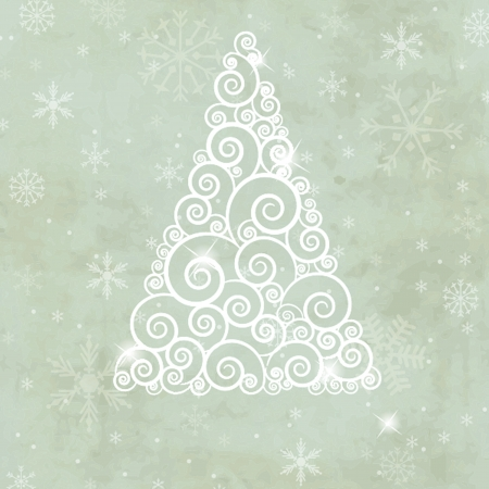 Christmas card with holiday elements  Vector