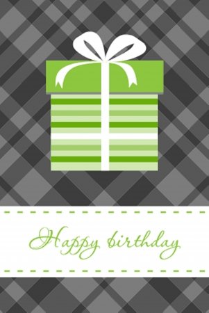 Greeting  card with present box Stock Vector - 19675391