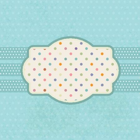 polkadot: Vintage frame on polka dot background Stock Photo