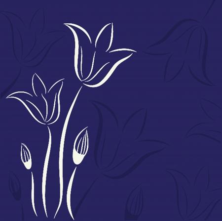 チューリップの花で装飾的な背景  イラスト・ベクター素材