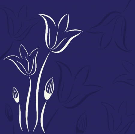 Decorative background with Tulips flowers Ilustração