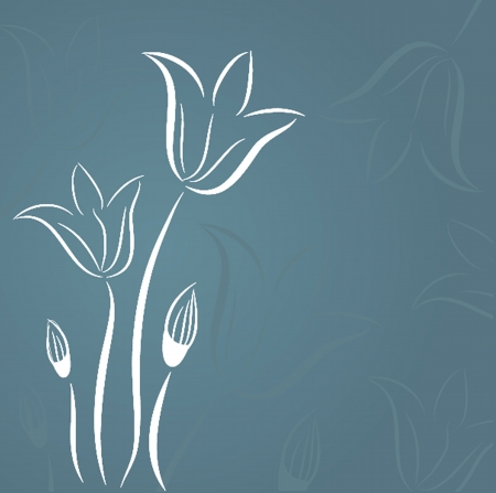 Decorative background with Tulips flowers Vector