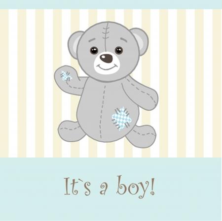 baby boy announcement card  vector illustration Vector
