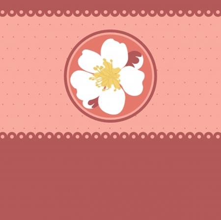 taffy: Blossom cherry - Greeting Card Illustration