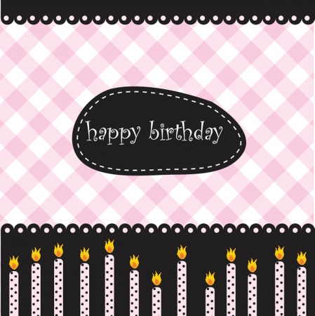 tenth birthday: Birthday candles Illustration