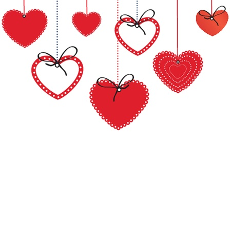 Cute background with vintage hearts