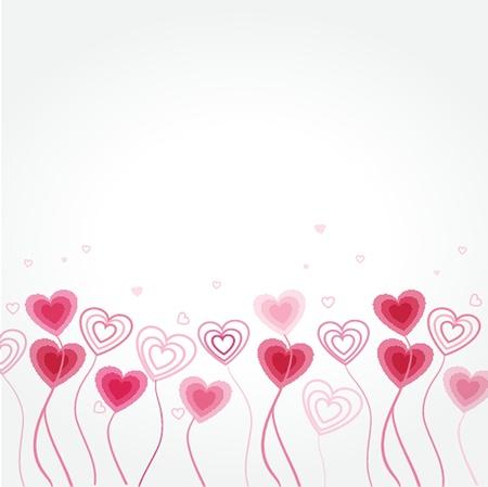 花の心を持つグリーティング カード 写真素材 - 19918536
