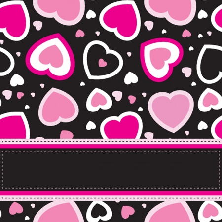 sew tags: Cute vector background with vintage hearts