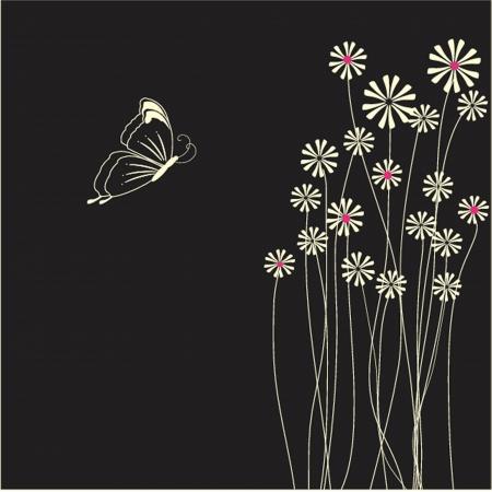 美蝶と花カード