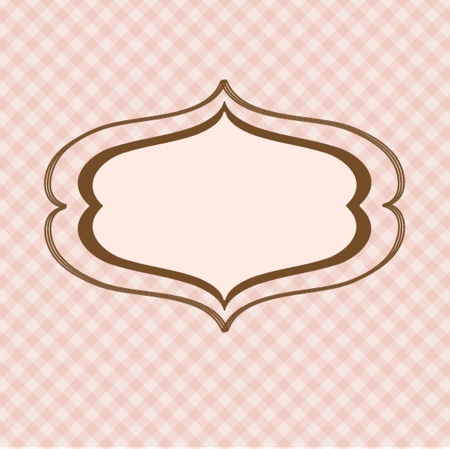 Vintage vector frame on  beautiful background Vector