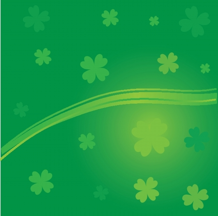 Patricks Day Leaves Vector