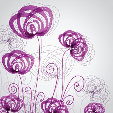 Abstracte paarse bloemen