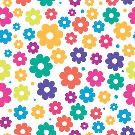 かわいい花柄シームレス背景