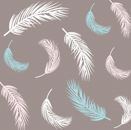 Vintage Feather seamless background. Hand drawn illustration. Stock Vector - 21196091
