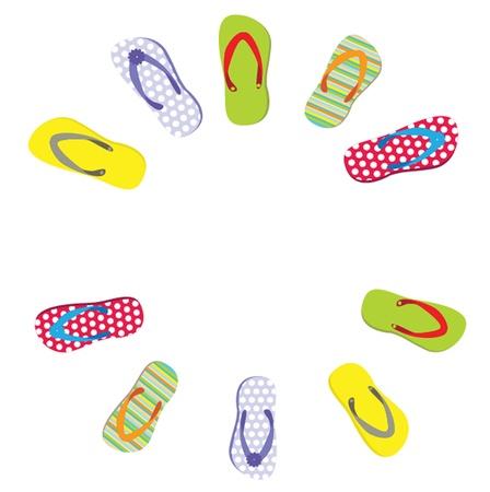 flipflops: beautiful beach slippers isolated Illustration