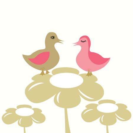 agachado: Illustraiton de pollos jóvenes