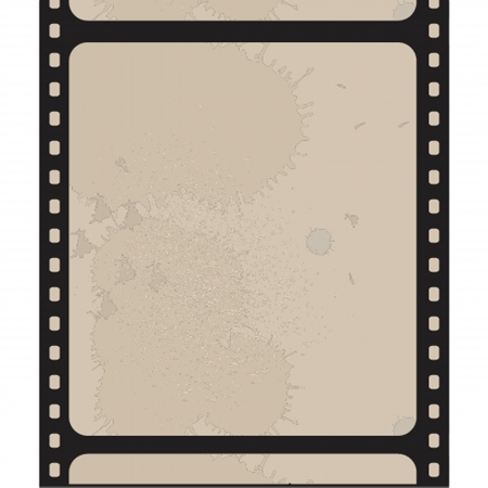 Old blank film strip isolated on white Vector