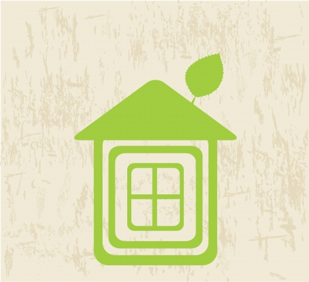 viewfinderchallenge3: eco home symbol   Illustration