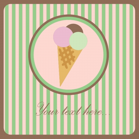 ice cream soft: Ice Cream icon Illustration